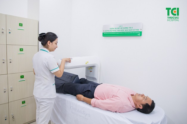 DEXA bone densitometer is equipped at every facility of Thu Cuc Medical System